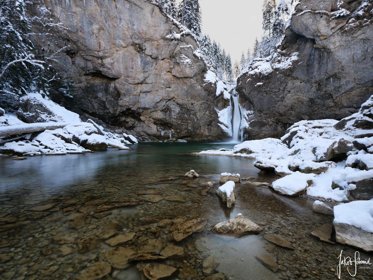 Allgäu Buchenegger Wasserfälle Winter
