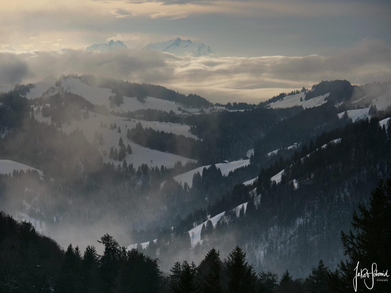 Allgäu Nagelfluh Winter