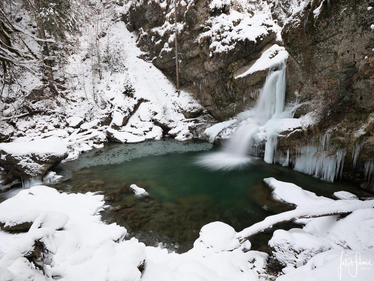 Allgäu Ostertal Tobel Winter
