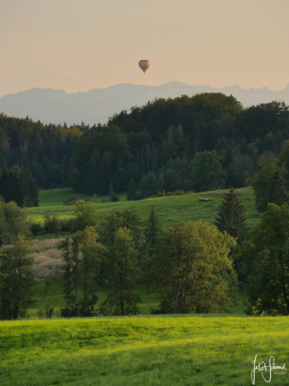 Bayerische Alpen Heißluftballon
