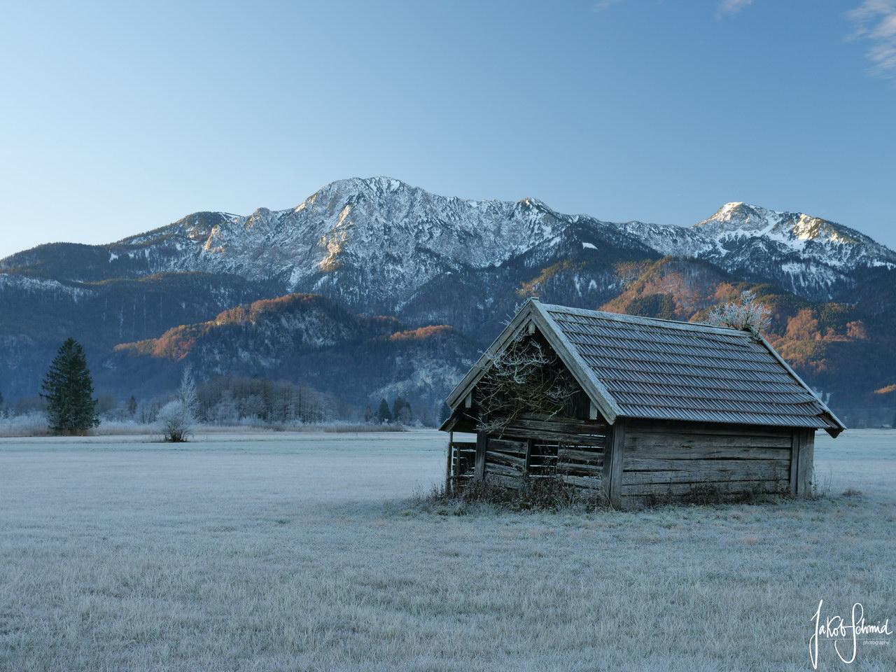 Kochel Winter Hütte Herzogstand