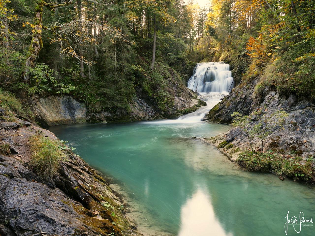 Obernachkanal Wasserfall