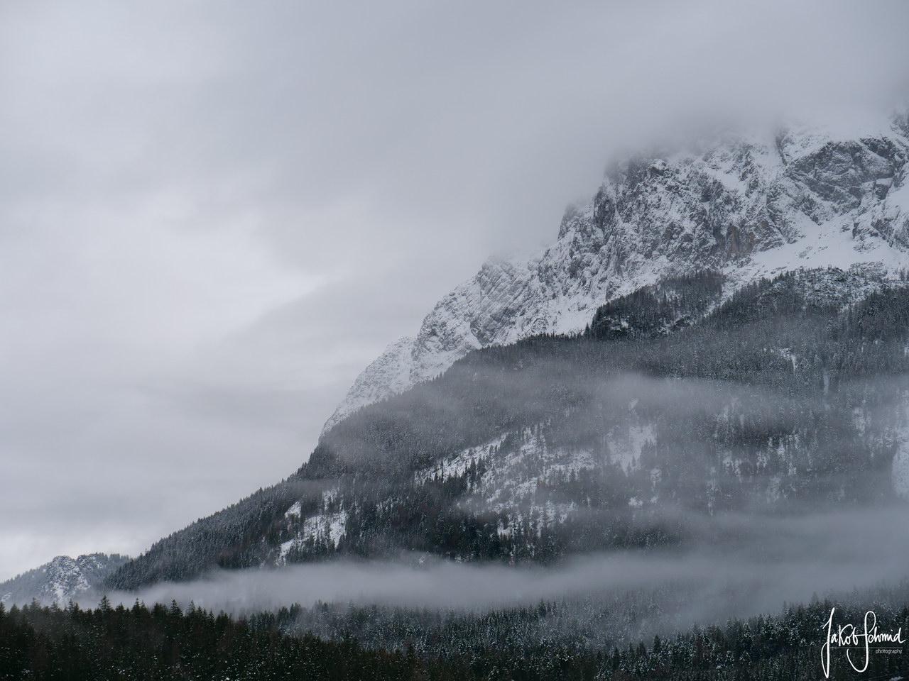 Zugspitze Bayern Winter