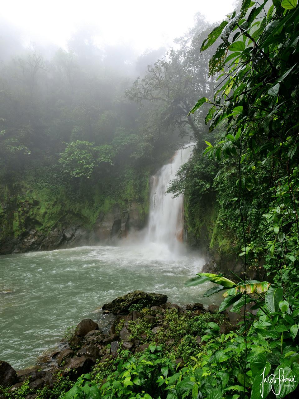 Costa Rica Rio Celeste Wasserfall