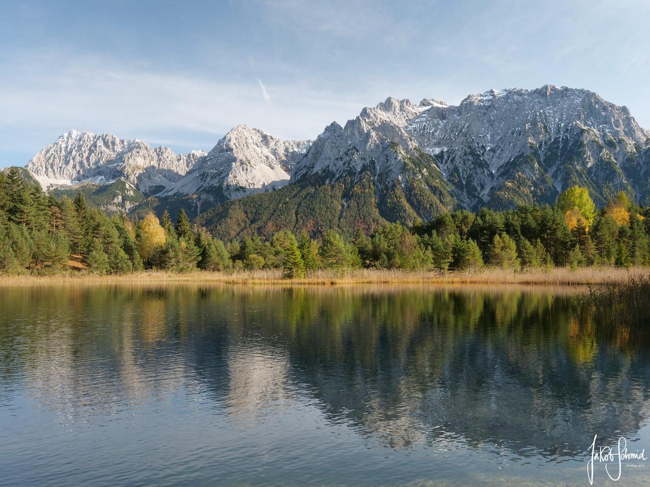 Mittenwald Karwendel Luttensee Herbst