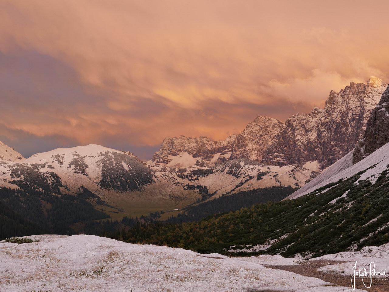 Karwendel Österreich Sonnenuntergang