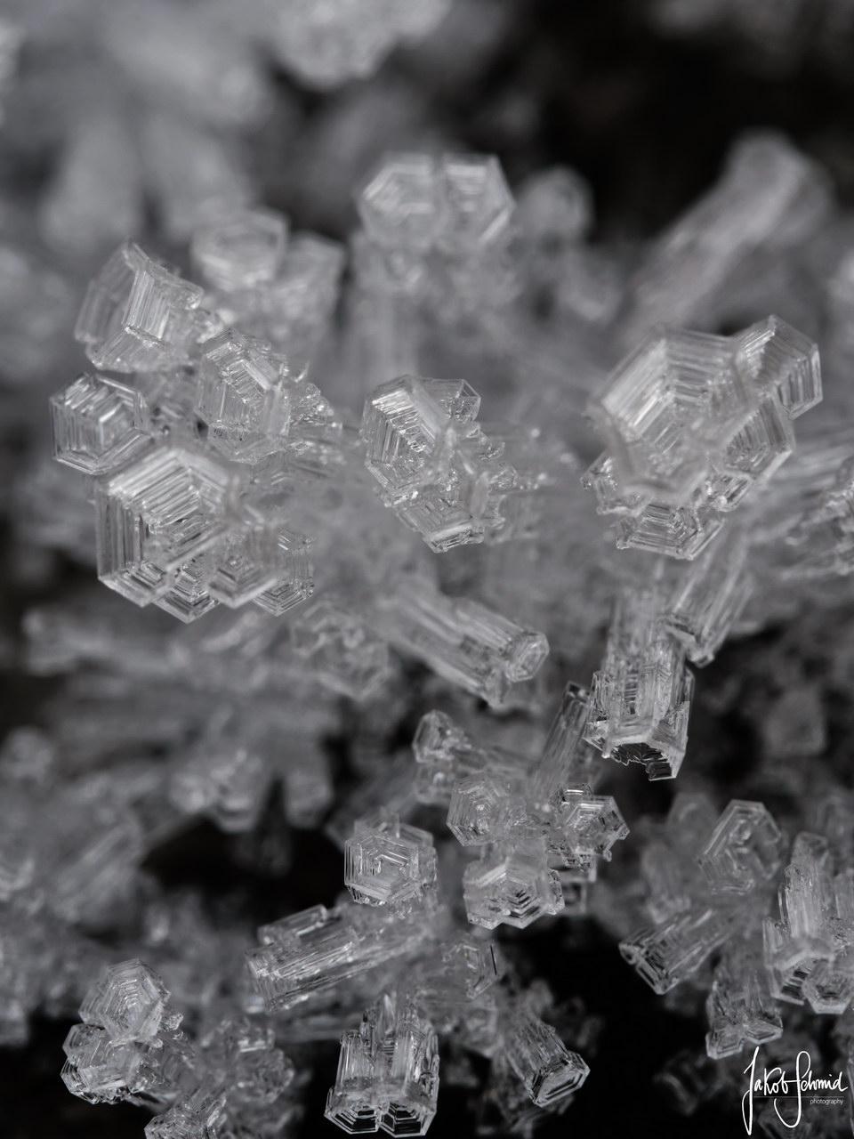 Eiskristall Makro