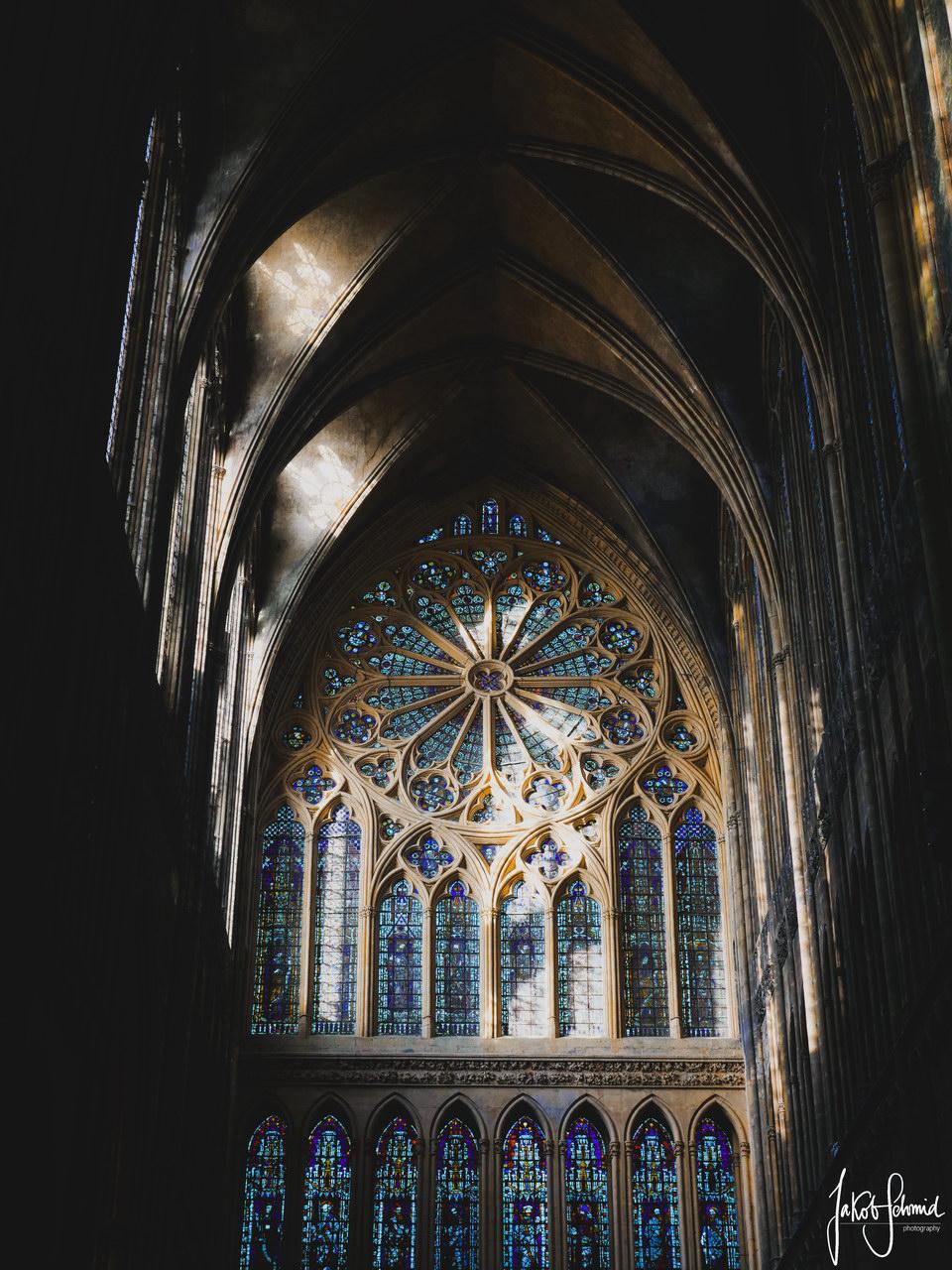 Normandie Kathedrale Metz Rosettenfenster