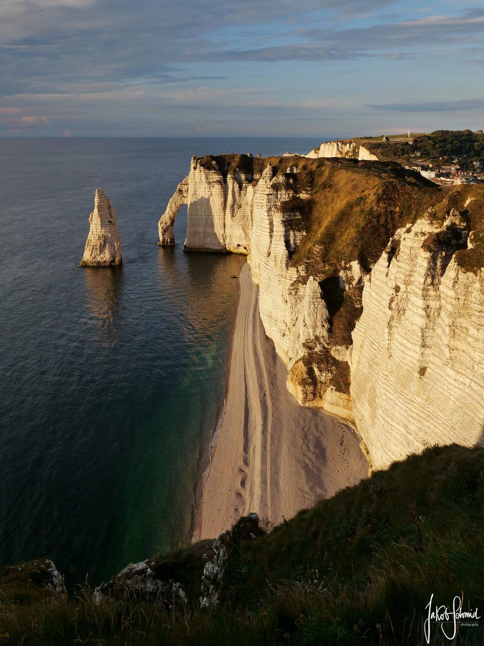 Normandie Klippen Etretat Abendlicht