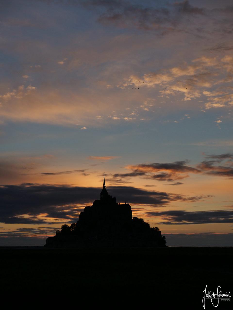 Normandie Mont Saint Michel Sonnenuntergang
