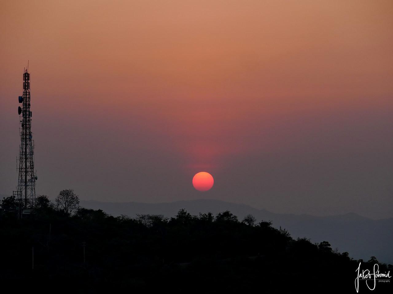 Thailand Phetchaburi Sonnenuntergang