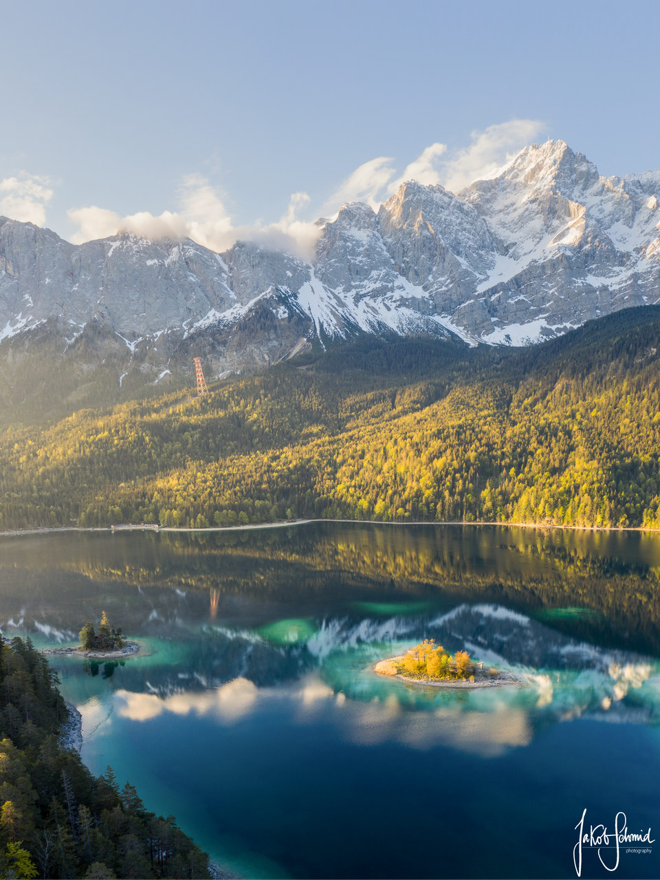 Bayern Eibsee Zugspitze
