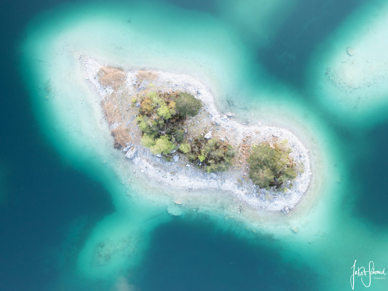 Bayern Eibsee Insel
