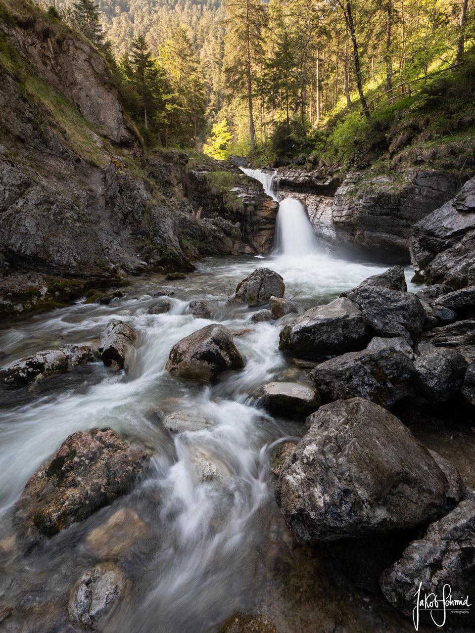 Bayern Farchant Kuhflucht Wasserfall