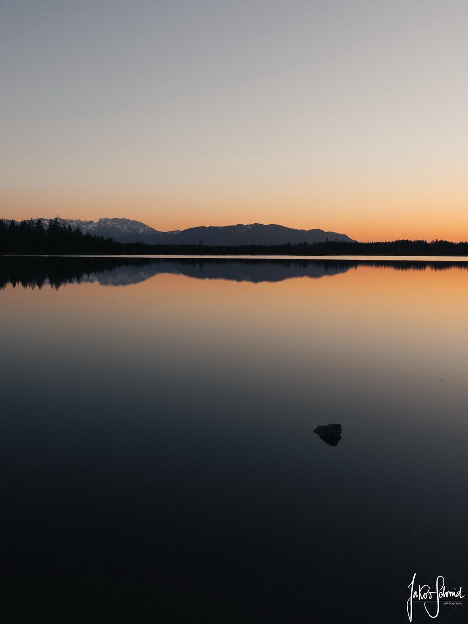 Bayern Kirchsee Sonnenuntergang
