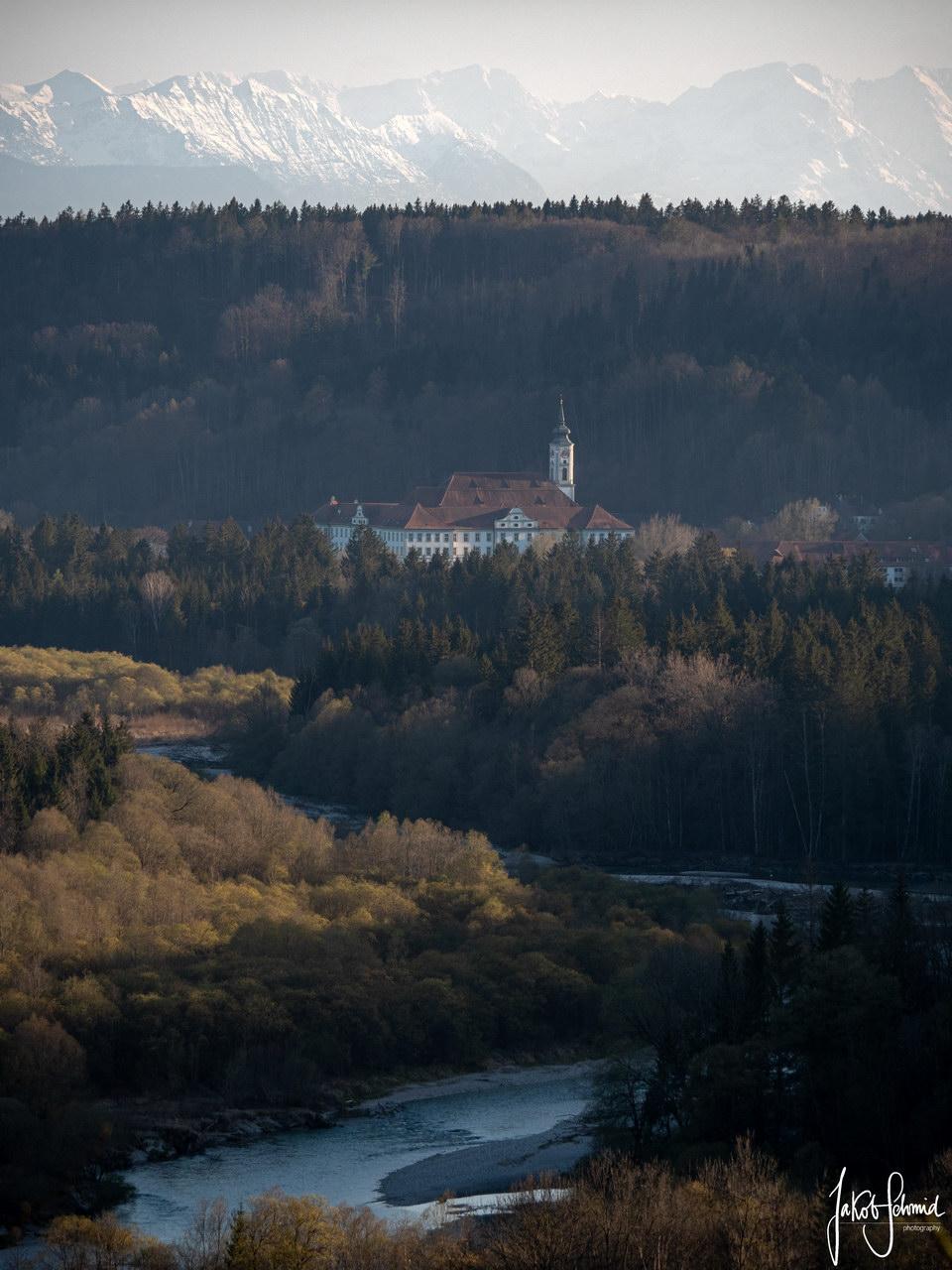 Bayern Kloster Schäftlarn Isar
